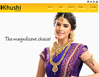 Khushi Jewellers Web Site Concept