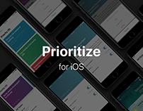 Prioritze for iOS