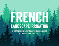 French Landscape Irrigation Responsive Website