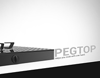 Pegtop - Helps you cook with one hand.