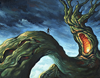 «Your god speaks» - Landscape painting
