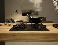 SOLGAZ / modern gas cooker