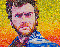 Clint Eastwood – made w/ Recycled Candy & Drink Labels