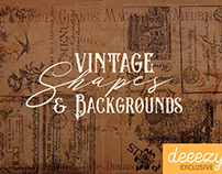 Free Vintage Shapes & Backgrounds