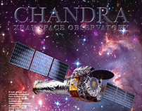 Chandra x-ray space observatory info poster