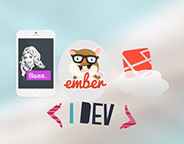 Sass, Ember, and Laravel to make a mobile app.