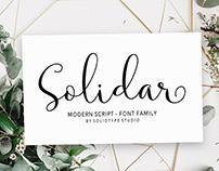Solidar Script - Font Family