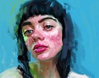 Natasha, portrait study