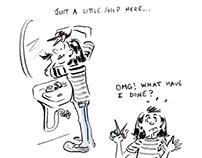 Pandemic Response - The At Home Haircut Cartoon