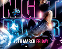 Night Dancer PSD Flyer Template
