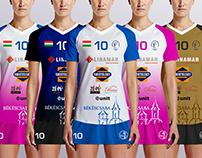 Volleyball Club Bekescsaba TEAM BRSE 2016/2017 jerseys