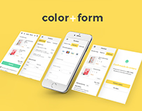 Color + Form  Responsive Website