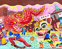 ChinatownMuralProject-DragonLionMedley