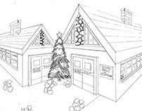 Perspective Drawing: Santa's Workshop