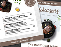 Restaurant Daily Food Menu Flyer