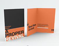Neue Haas Grotesk typographic brochure