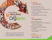 BGSU Student Organization Handout