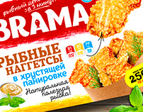 Packaging design for BRAMA fish products