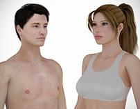 3D Human Characters: Caucasian - Latin