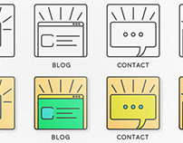 Free Total Flat Website Icons