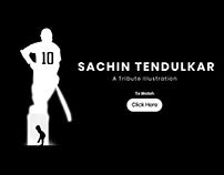 Sachin Tendulkar- A tribute illustration