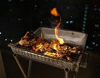The Mini Barbecue Grill & Stand