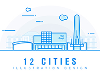 12 Cities Structure Illustration