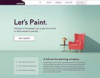Homepage Design, Mockup, Paintzen