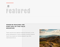 SPARROW II Modern Blogging Template
