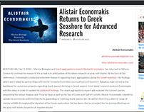 Alistair Economakis Returns to Greece (press release)