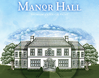 Manor Hall Paint Illustrations by Steven Noble