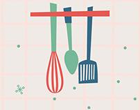 Mantelitos para cocina / Los Nietitos