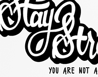 Hand Lettered Art - Stay Strong
