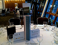 Branding an Event: Skyscrapers on the Tables