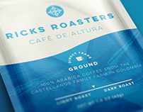Ricks Roasters Package Design
