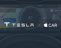 Tesla | AppleCar_ Cluster Interface, Mobile