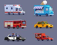 Vectors cars