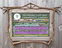 Westerly Land Trust Community Garden - Signage Design
