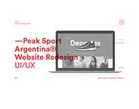 Peak® Sport Argentina Web Redesign