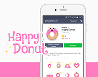 Happy Donut - Sticker Pack for LINE