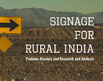 UX Research - Signage for Rural  India