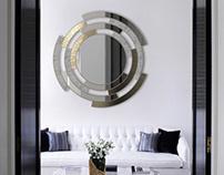 Twist | Metal and Marble Mirror - Living Room