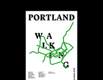 Portland Walking Library —Exhibition Poster