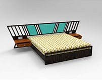 Bed and Bed side table- Standadr Room