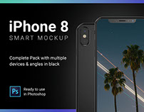 iPhone 8 Smart Mockup for Photoshop