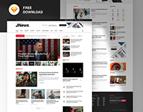 JNews FREEBIES - Web News & Magazine Sketch Template