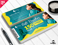 Fashion Store Gift Voucher Free PSD