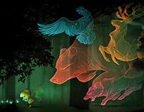 Pac-man Tribute: The Wood Spirits