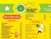 Menu Design - Cafe Majestic Woods