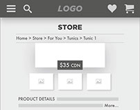 UI/UX Assignment - e-Commerce Mobile Site Design